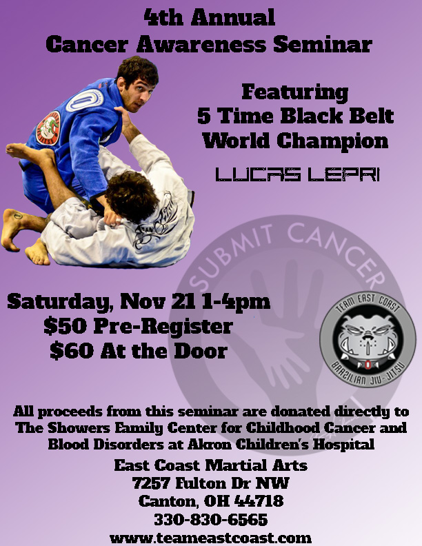 Cancer Awareness BJJ Seminar Featuring Lucas Lepri