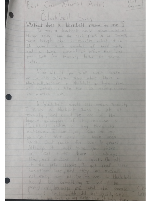 Chad Graham Essay